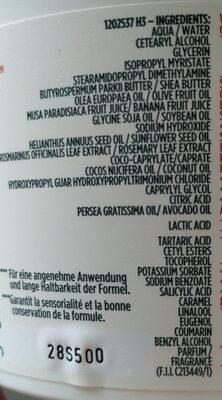 FRUCTIS - Banana Hair Food - Ingredients - en