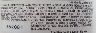 L'après-shampooing hydratant Lait d'amande nourricier - Ingrédients