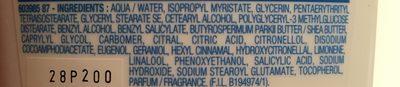 Lait démaquillant antidessèchement, peaux sensibles et sèches, - Ingredients