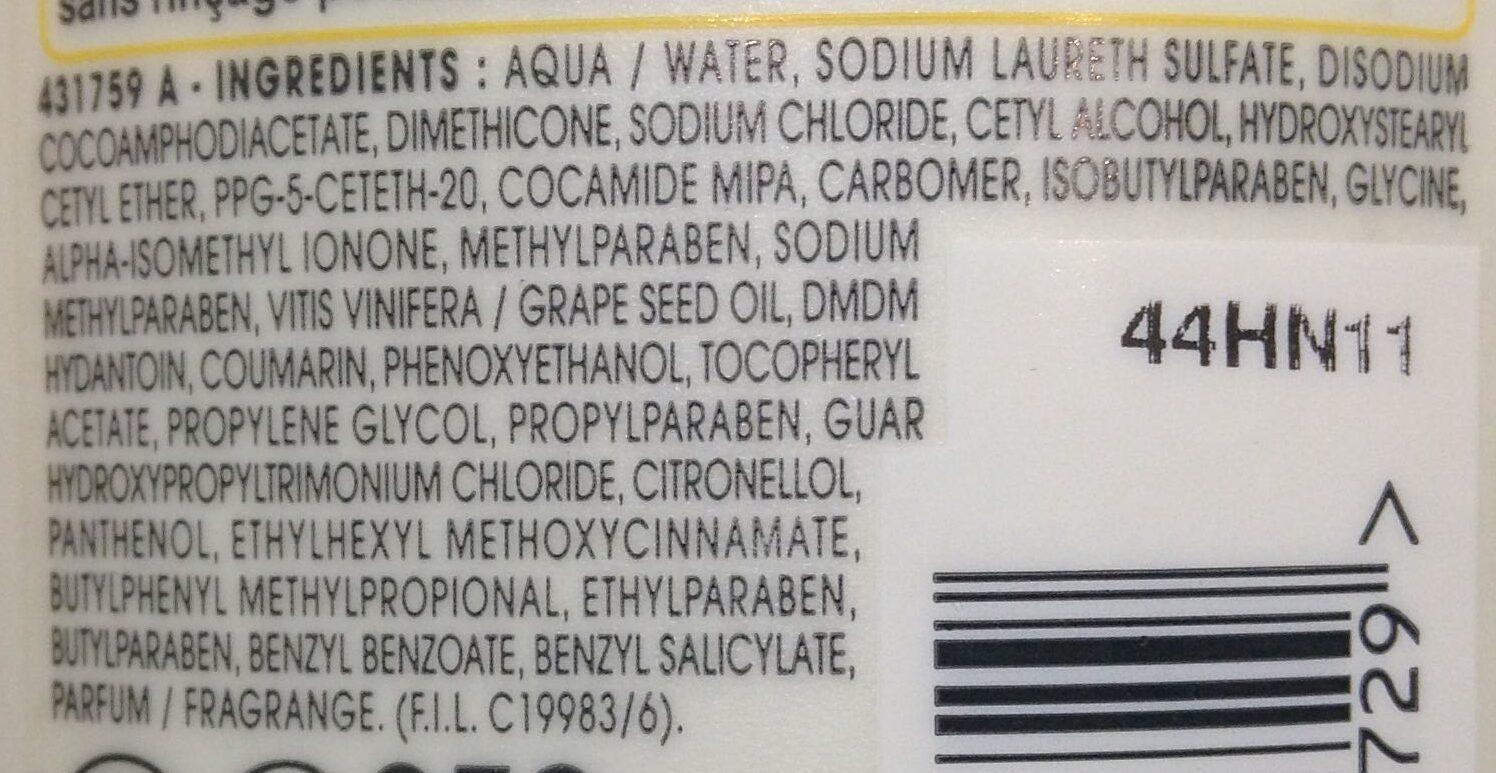 Shampooing anti-dessèchement nutri-extrême - Ingrédients - fr