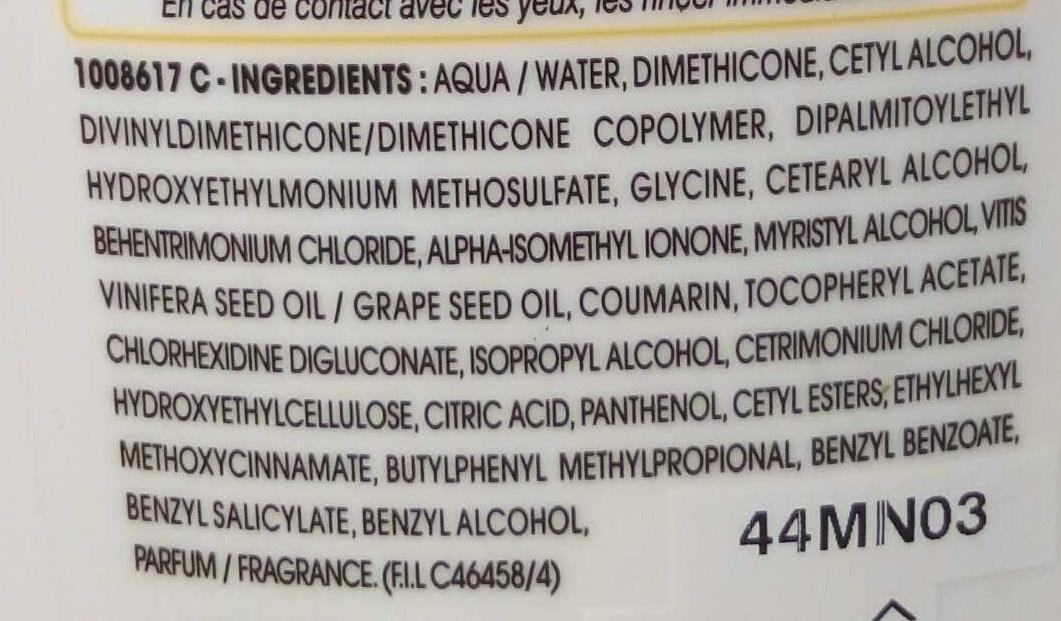 Après-shampooing crème anti-dessèchement Nutri-Extrême - Ingredients - fr