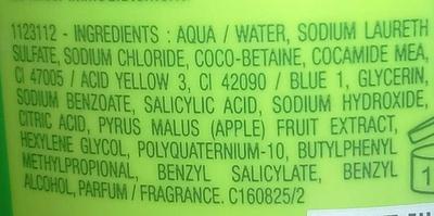 Shampoing très doux à la pomme verte - Ingredients