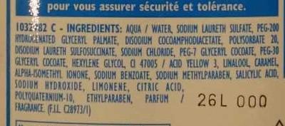 Shampooing très doux (+20% gratuit) - Ingredients