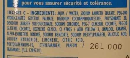 Shampooing très doux (+20% gratuit) - Ingrédients - fr