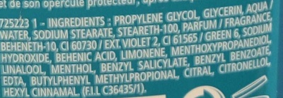 Ice Fresh Déodorant 24h - Ingredients