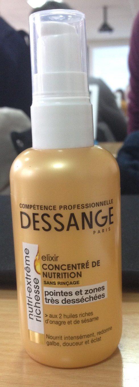Elixir concentré de nutrition sans rinçage, aux 2 huiles riches d'onagre et de sésame, pointes et zones très desséchées - Product - fr