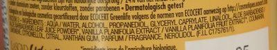 Ushuaia Polynésie - Ingredients