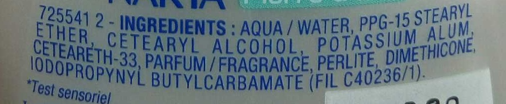 Déodorant Pierre d'Alun 48H - Ingredients