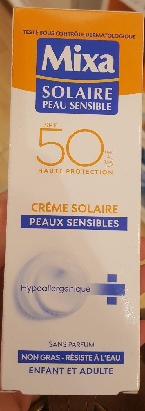 Crème Solaire Peaux sensibles SPF 50 - Produit - fr