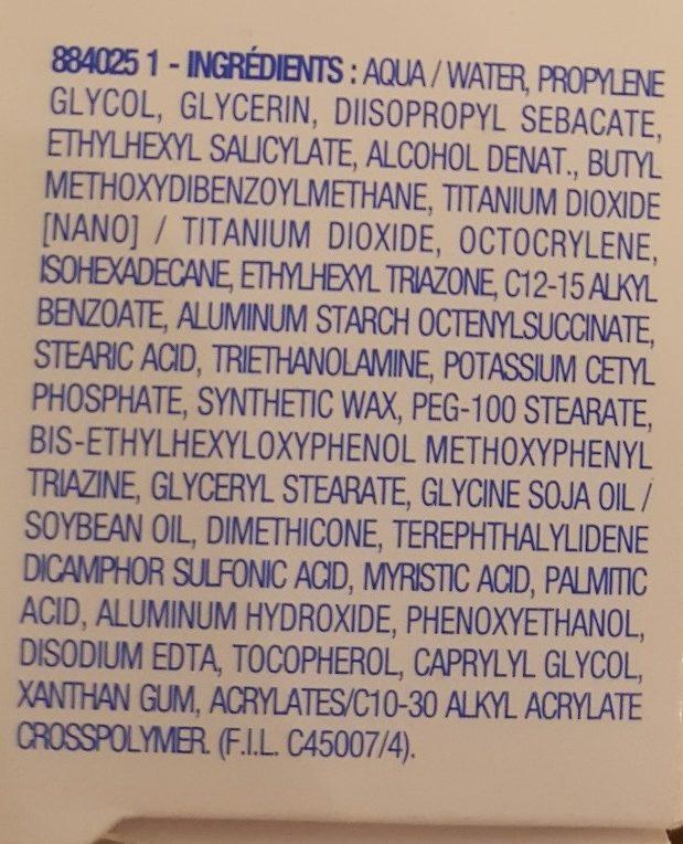 Crème Solaire Peaux sensibles SPF 50 - Ingrédients - fr