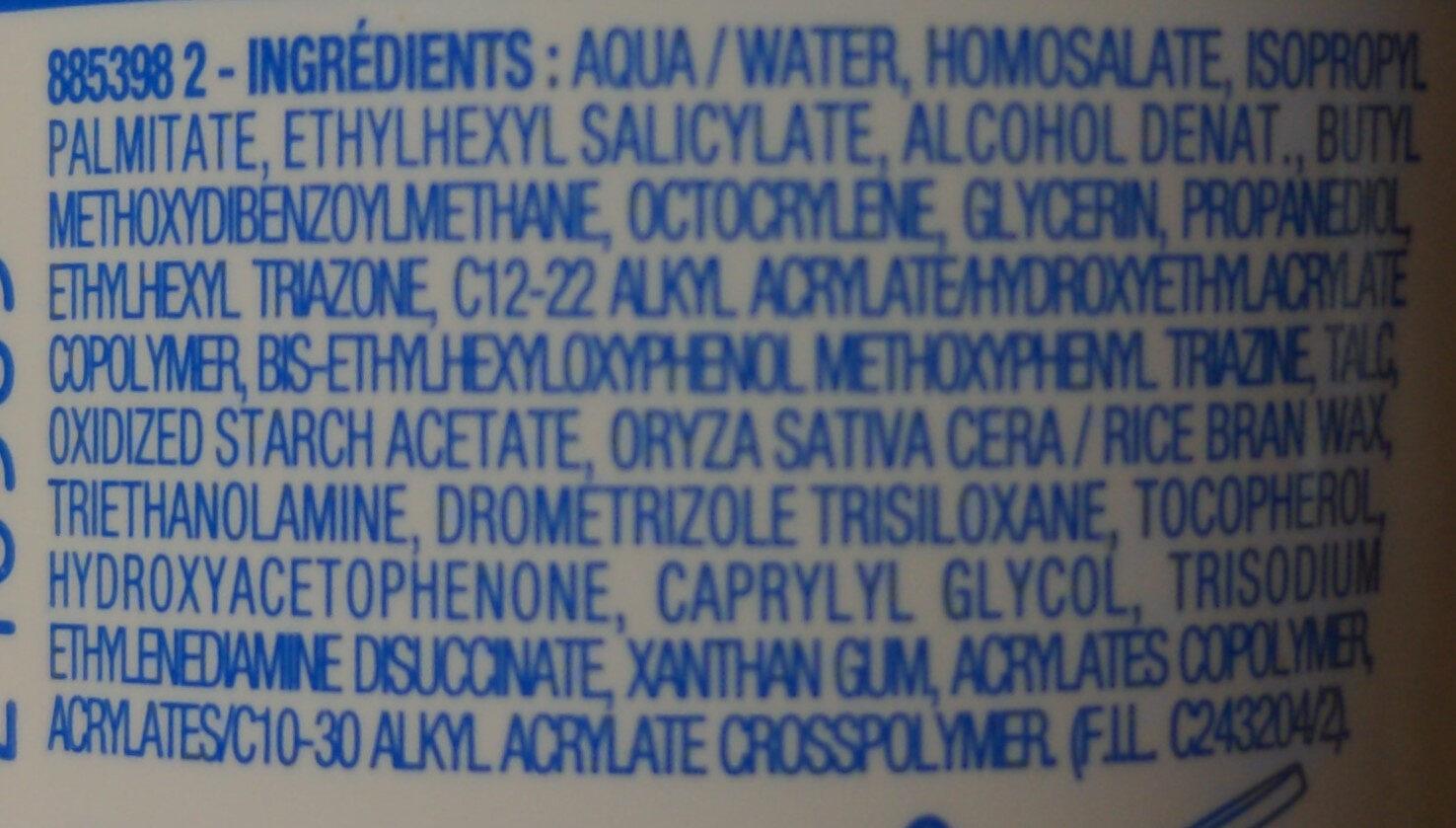 Mixa solaire peau sensible SPF 30 - Ingrédients - fr