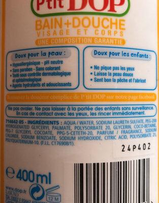 P'tit dop bain + douche - Ingredients