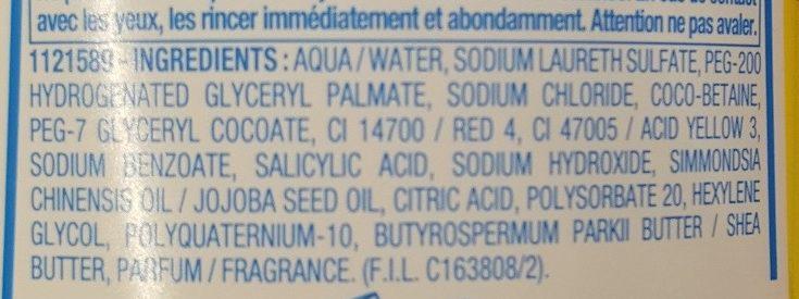 Mixa Bébé Shampooing Démêlant Très Doux - Ingredients - fr