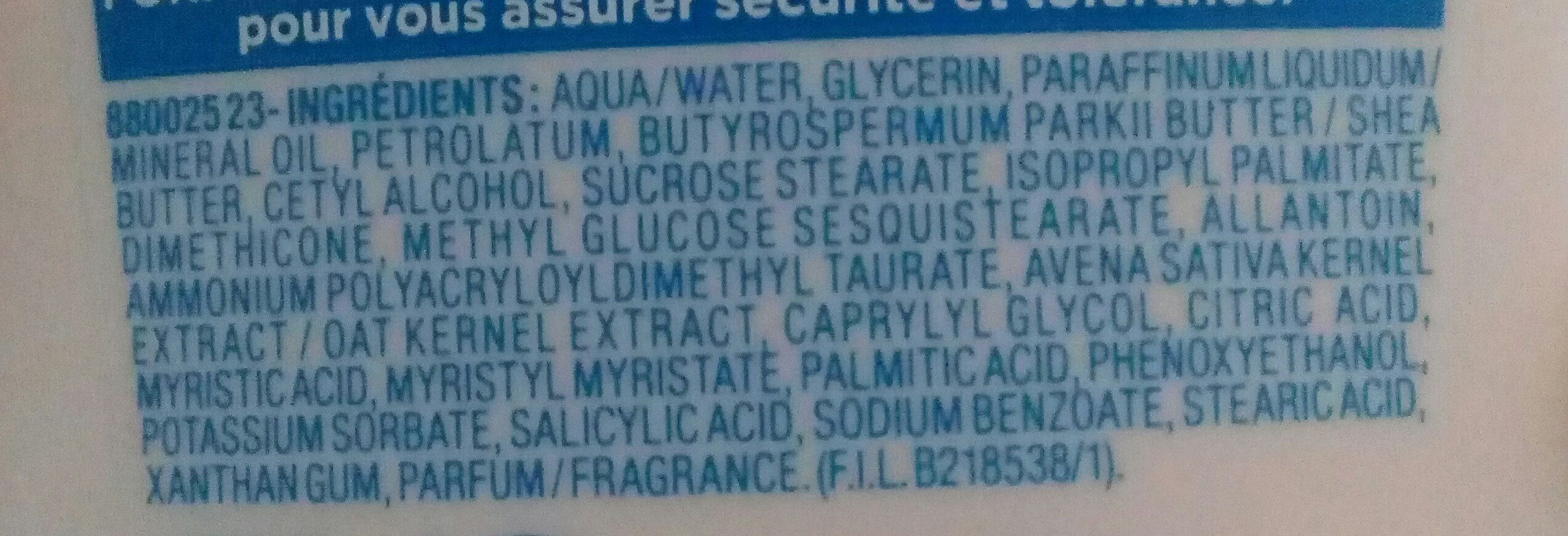 lait corps nourrissant - Ingredients - fr