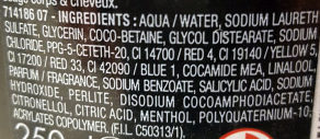 Rituels d'Asie Shampooing Douche Homme Effet Glaçant Roche Volcanique - Ingredients
