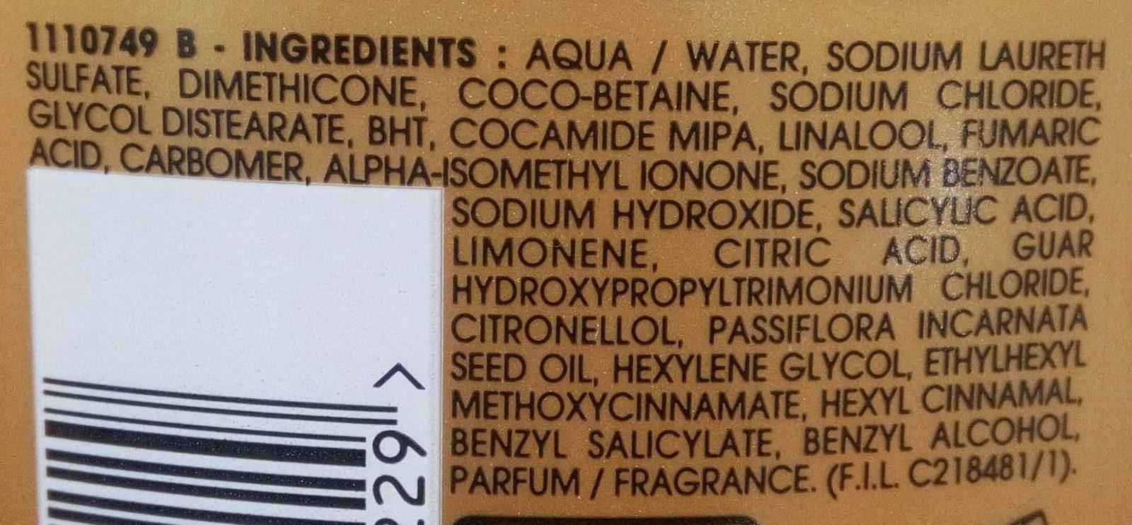 Shampoing Nutri-illuminant Blond Californien - Ingrédients - fr