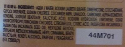 Shampoing Nutri-illuminant Blond Californien - Ingrédients