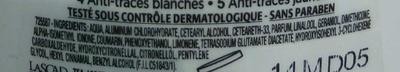 Anti-transpirant Protection 5 Peau + Vêtements - Ingredients - fr