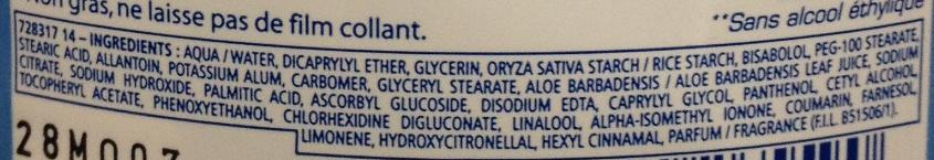 Baume calmant 2 en 1 après rasage + soin visage - Ingredients - fr