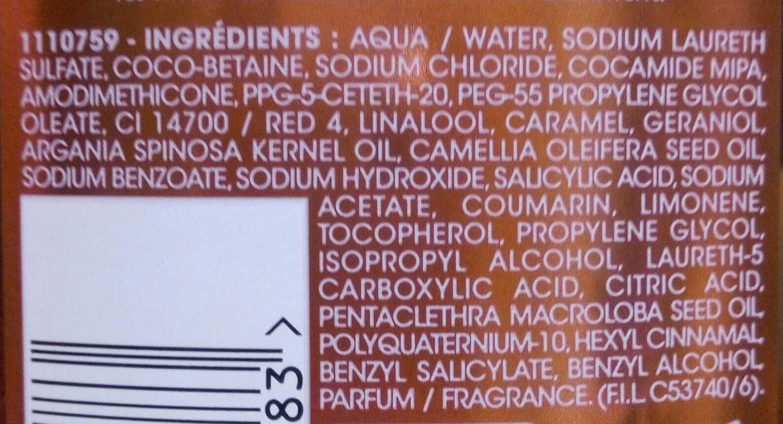 Shampooing micellaire nutri-regénérant cheveux dénaturés - Ingredients - fr