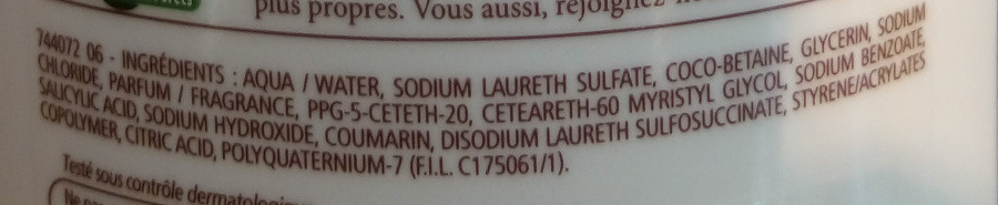 Douche crème douceurs d'enfance au parfum du caramel à l'ancienne - Ingredients - fr
