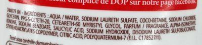 Douche Crème Douceurs d'Enfance au parfum de la tartelette - Ingredients