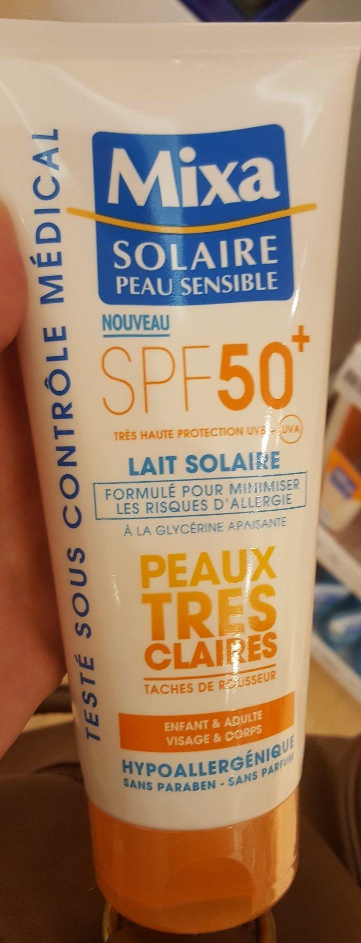 Lait Solaire SPF 50+ Peaux très claires - Product - fr