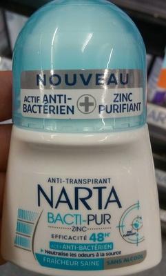 Anti-Transpirant Bacti-Pur Zinc Fraîcheur saine 48H - Product