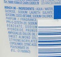 Thermal Peaux Sensibles Gel lavant hydratant - Ingredients