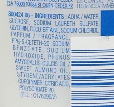 Thermal Peaux Sensibles Gel lavant hydratant - Ingredients - fr