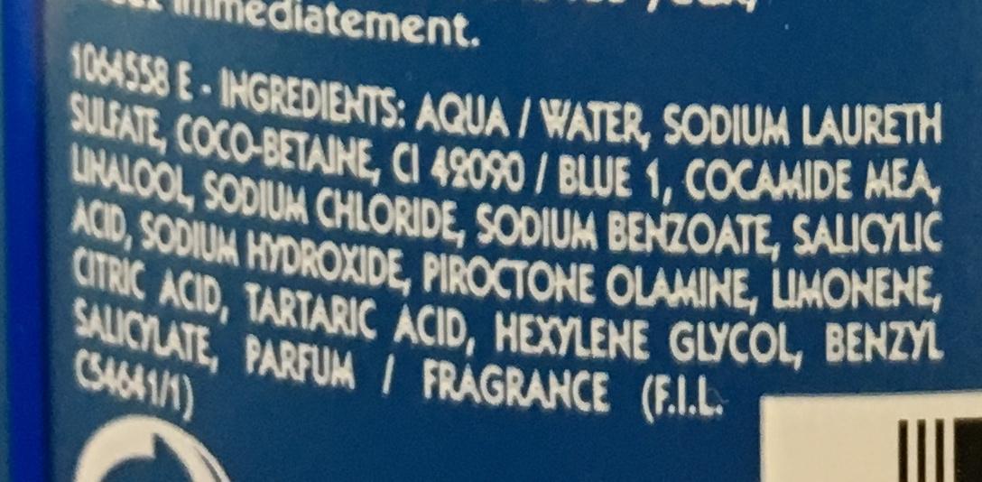 Shampooing très doux Traitant Antipelliculaire - Ingrédients