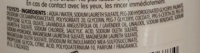 Shampooing 3 en 1 usage quotidien - Ingredients - fr