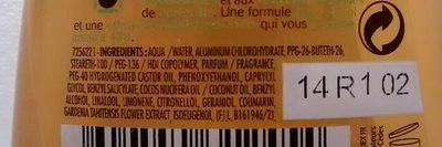 Ushuaia anti-transpirant 48h Polynésie - Ingredients - fr