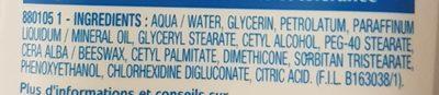 La crème visage des peaux réactives - Ingredients