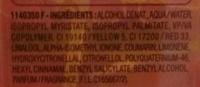 Huile bi-phase coiffante anti-frisottis 24H - Ingredients