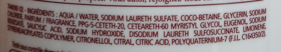 Douche crème douceur d'enfance au parfum du bonbon cola - Ingredients