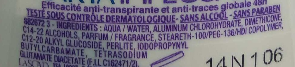 Anti-transpirant Impeccable 48H - Ingredients