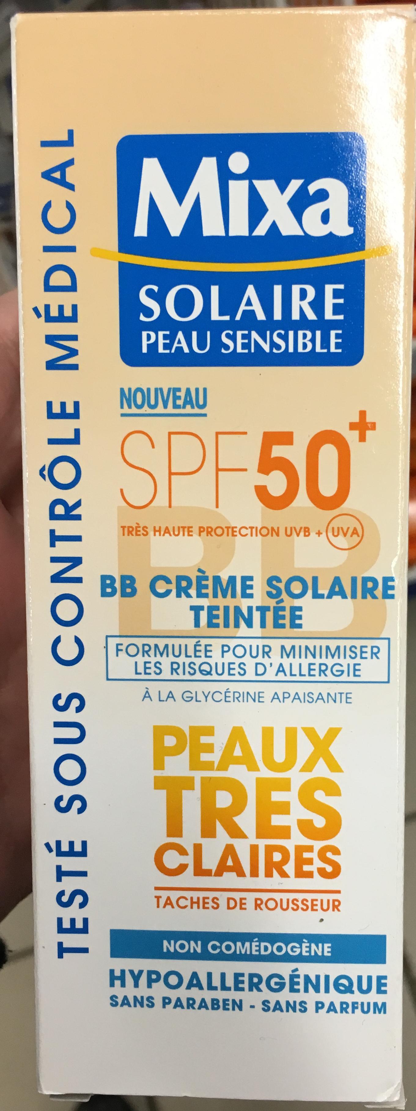 BB Crème Solaire Teinté SPF 50+ - Produit