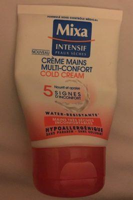 MIXA - Crème Mains Multi-Confort Cold Cream - Produit