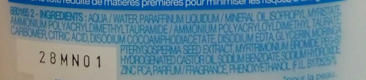 Lait démaquillant anti-imperfections non-gras - Ingredients - fr