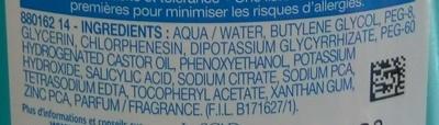 Expert Peau Sensible Lotion très active sans alcool Anti-Imperfections - Ingrédients