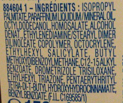 Solaire peaux sensibles - Ingrédients