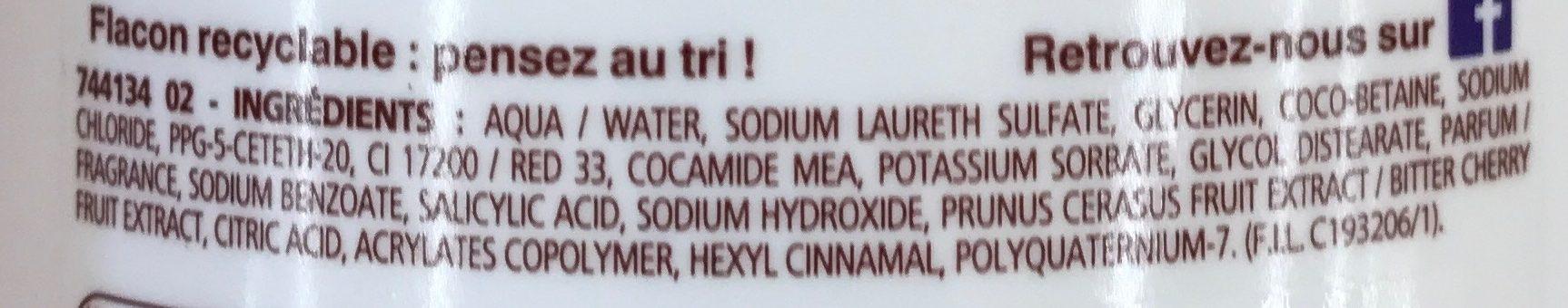 Douche crème Douceurs de nos Régions Cerise Luberon - Ingrédients