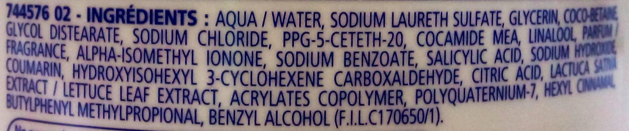 Douche Crème au lait Végétal des Pyrénées - Ingredients