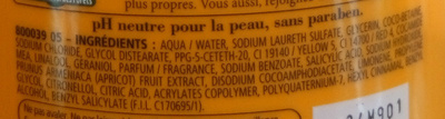 Douche crème douceurs de nos régions à l'abricot du Roussillon - Ingrédients