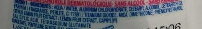 Anti-transpirant Narta Peau parfaite - Ingredients - fr