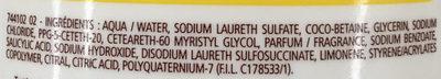 Douche crème Douceurs d'Enfance au parfum du Quatre-Quarts au Citron - Ingredients