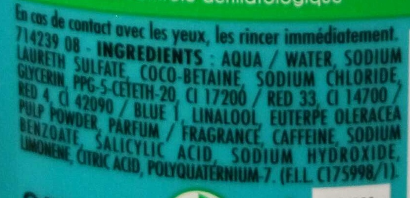 Gelée de Douche Bahia do Brasil - Ingredients