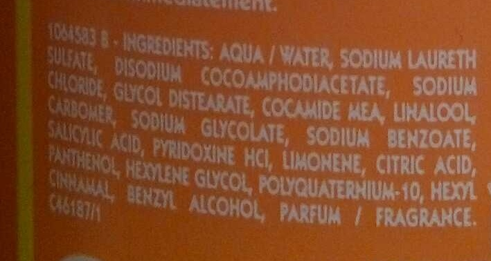 Shampooing très doux aux vitamines - Ingredients - fr