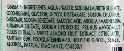 Shampooing très doux 2 en 1 à l'amande douce - Ingredients